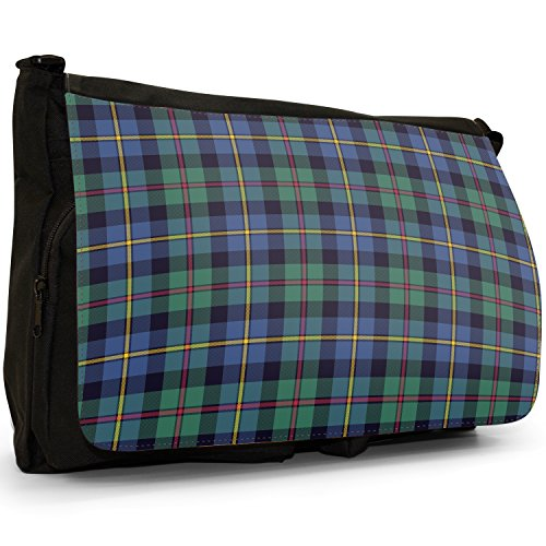 Fancy A Snuggle, Borsa a spalla donna Large Blue & Green Tartan