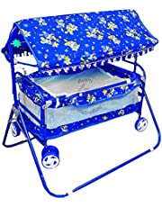 Avani Baby Crib and Cradle Two in One (Blue)