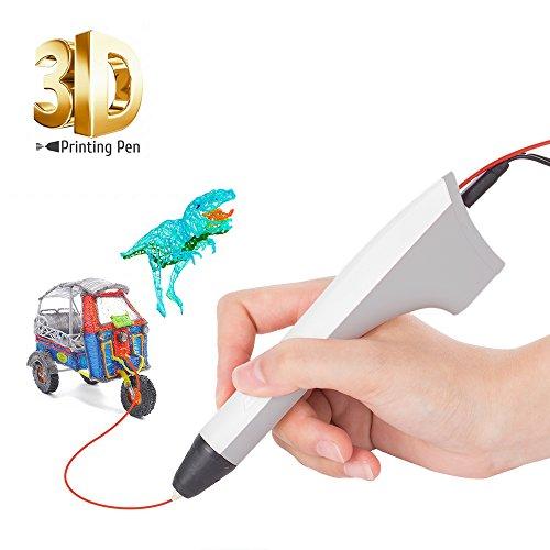 Preisvergleich Produktbild SUNLU 3D Pen Newest Gift for Adults,Teenagers, Kids, 3D Printer Printing & Drawing Pen, USB Power Bank PLA and PCL Compatible 2PCS Filament Refills, Elegant Hot White
