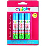 Carioca School Glue - Blíster de 3 cola stick, 10 gr