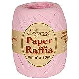 Eleganza 8 mm x 30 m de Ruban en Raphia Papier pour de Nombreux projets manuels et Emballage Cadeau, 21 Clair Rose