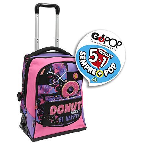 Giochi preziosi gopop 19 trolley spinner donut sacca, 47 cm, multicolore
