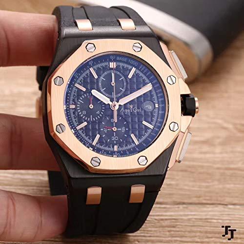 PLKNVT Luxusmarke New Chronograph Herrenuhr Stoppuhr Lebron James Sapphire Uhren Full Black Grey Rubber Sport Limited Blue Uhren6