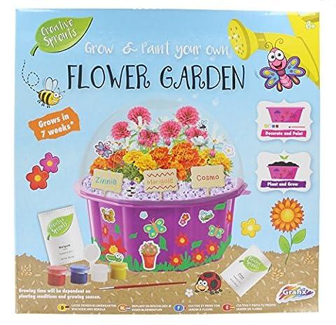 Grafix Grow & Paint Your Own Flower Garden Kids Creative Craft Set