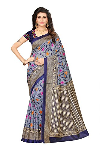 Oomph! Bhagalpuri Silk Sarees for Women Party Wear - Kalamkari Floral -...
