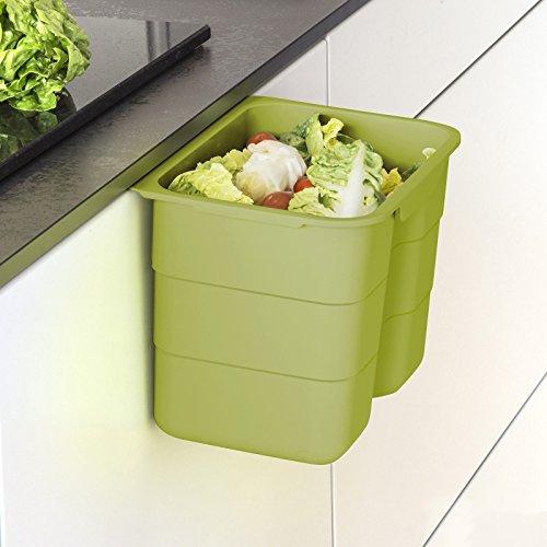 Biobin Multifunktionsbehälter 4,2 L grün mit Deckel 170 x 227 x 172 mm zum Einhängen Bio...