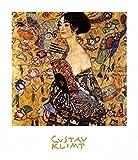 1art1 Set: Gustav Klimt, Frau mit Fächer III Poster Kunstdruck (30x24 cm) Inklusive 1x Collection Poster