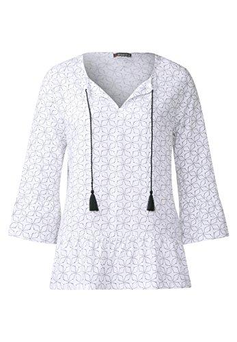 Street One Damen Shirt mit Rüschen Silvia white (weiss)