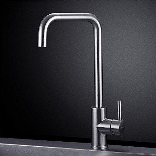 by-kitchen rubinetti, acciaio INOX 304caldo e freddo rubinetti lavello cucina