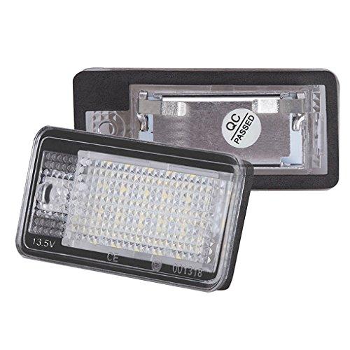 Linke Seite LED-Auto-Kennzeichenleuchte für Audi Q7 A3 S3 S4 B6 A6 C6 A8 S8 Car Styling Automobil-LED-Kennzeichenleuchte Regard