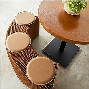 Gartenmöbel Wohnmöbel Softeating Modernes Design Accordin Folding Papier Hocker Sofa Stuhl Kraftpapier Entspannende Fuß living & amp;Esszimmer (Höhe 42 cm, braun, 3 Sitzplätze + 3-Personen-Aprikosenha