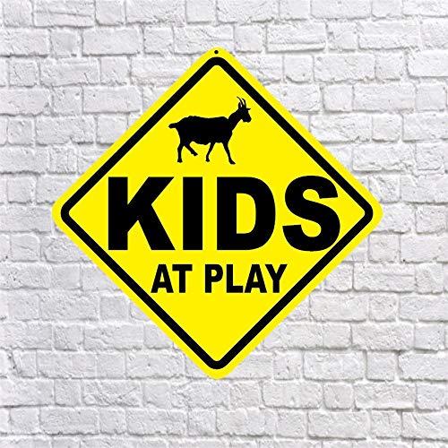Dozili Kids At Play Señal de Granja de Cabra Pesada .040 Aluminio