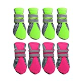 #9: Phenovo Pet Dog Boots Water Repellent Anti-Slip Protective Boots Shoes XS-XL - green, S