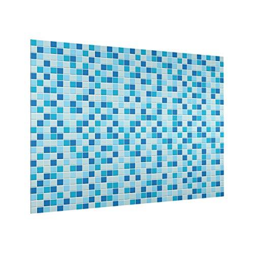 Bilderwelten Spritzschutz Glas - Mosaikfliesen Meeresrauschen - Querformat 3:4, 59cm x 80cm -