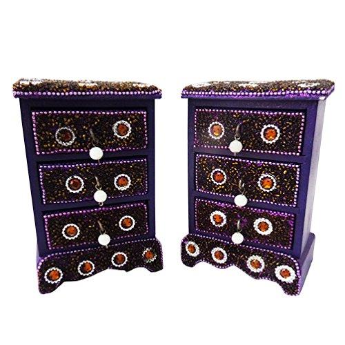 antico di monili in stile set di 2 pezzi fatti a mano...