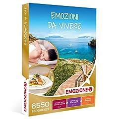 Idea Regalo - EMOZIONE3 - Emozioni da vivere - Cofanetto Regalo Multitema - 1 esperienza benessere, enogastronomica o di svago per 2 persone