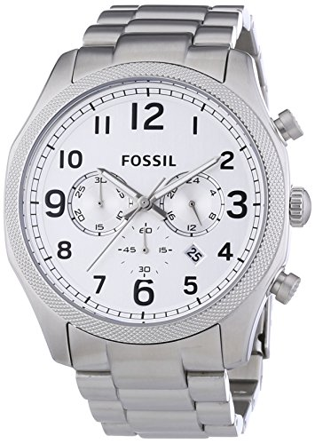 Fossil Herren-Armbanduhr XL Foreman Chronograph Quarz Edelstahl FS4861