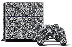 247Skins PS4 Console Designer Skin plus Two(2) Decals for Dualshock Controller Skull Camo