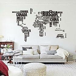 Mapa Del Mundo Carta PVC original decoración casera creativa Room Decor etiqueta de la pared
