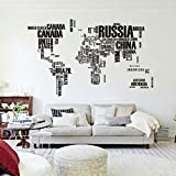 Mapa Del Mundo Carta PVC original decoración casera creativa Room Decor etiqueta de la pared