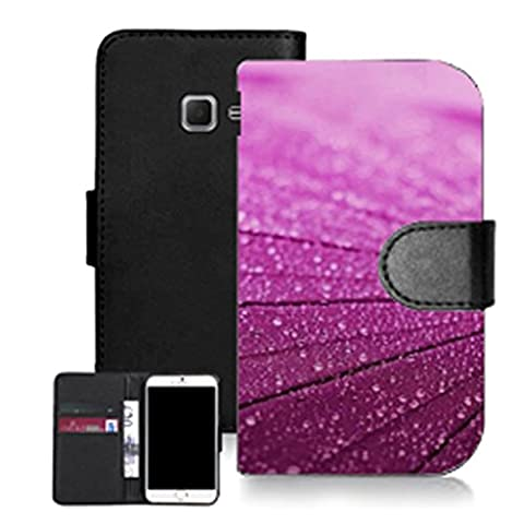 Mobile case mate noir pu porte-feuille en cuire coque etui case pour samsung galaxy a5 (2016) -purple lumber