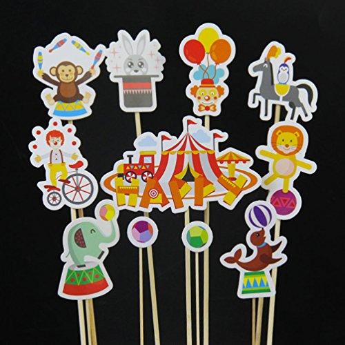 Kuchenstecker Zirkus Capcake Geburtstag Party Dekor Kinder (Zirkus Dekor)