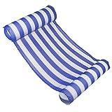 Sue-Supply Pool Hängematte Wasserhängematte Superleichte Wasser-Hängematte Ultrabequeme Schwimmliege Stuhl-kompaktes Portable Aufblasbares für Erwachsen-Kind (Blau)