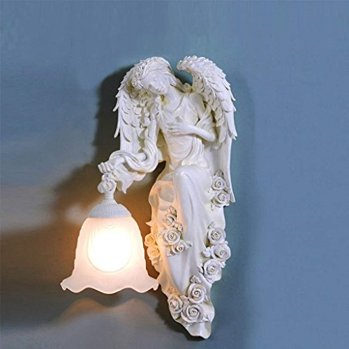 Lichterarm Engel Skulptur Wandleuchte Schlafzimmer Nachtzimmer Wohnzimmer Boden Kreative einfache...