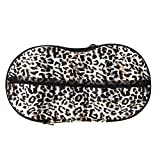 TOOGOO(R) Unterwaesche Aufbewahrungskasten bedeckt Buestenhalter Lagerkasten Hoeschen Socken Reisen tragbar Lagerkasten Beutel Leopard