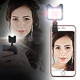 APEXEL Mini Clip On LED Blitz füllen Licht Selfie Licht mit 9 Beleuchtung Modi, Handy-Kamera Flash Foto für iPhone iPad und die meisten Android-Geräte Smartphon