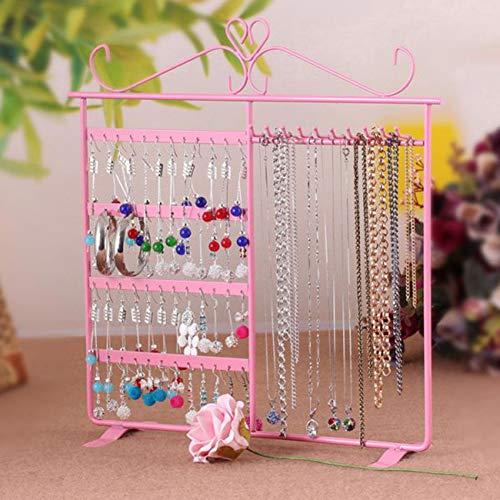 EFINNY-Ohrring-Halsketten-Gestell-Schmucksache-Speicher-Gestell 48 Loch-10 Haken-Ausstellungsstand für Haushalt -