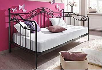 Metallbett schwarz  moebel direkt online Day-Bed / Einzelbett / Metallbett schwarz ...