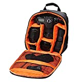 #3: Pithadai DSLR/SLR Camera Lens Shoulder Backpack Case for Canon Nikon Sigma Olympus Camera (Orange)