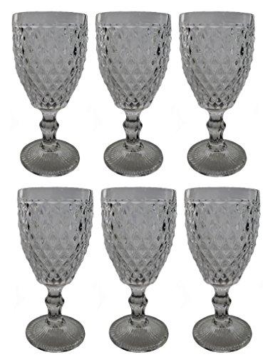 vintage-6-teile-set-netz-klar-16-1-konig-weinglas-glas-glaser-weinglaser-wasserglas-longdrinkglas