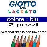 2crayons de couleur Giotto laqué mine 3,3mm vrac Bleu Giotto laqué