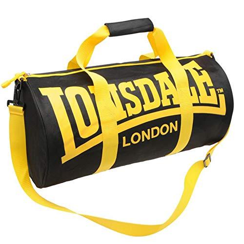 Lonsdale Barrel Bag - Black / Yellow