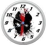 LL Wanduhr Deadpool Design ca. 20 cm Durchmesser mit lautlosem Uhrwerk Unisex Kinderzimmer Büro Arbeitszimmer Motiv 1