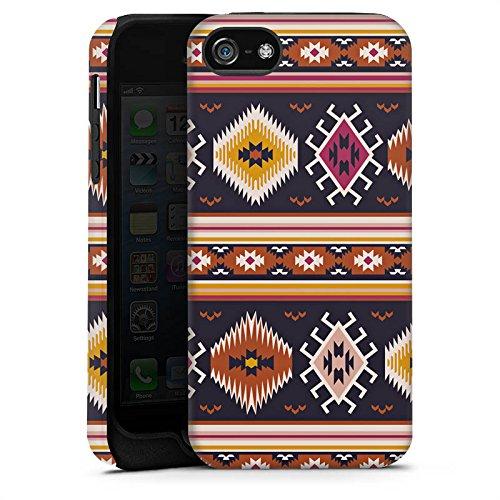 Apple iPhone X Silikon Hülle Case Schutzhülle Muster Ethno Bunt Tough Case matt