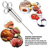 Iniettore di carne 304 Iniezione di acciaio inossidabile Carne iniettore Kit Siringa di carne di qualità alimentare per carne di manzo Pollo Turchia