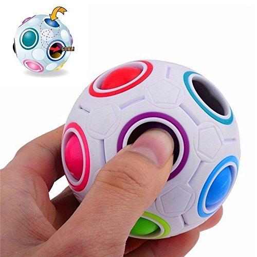 ytycjsfh Rainbow Magic Ball Kunststoff Cube Twist Puzzle für Jugendliche Erwachsene Spielzeug