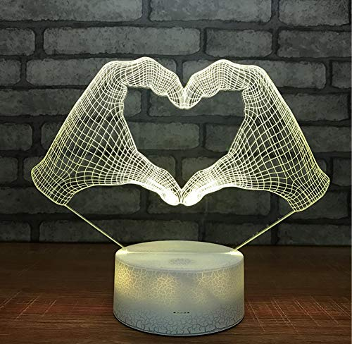 Led Acrylic Bed Custom 3D Small Night Lights Christmas Decorations Gift For Baby Room Lights Wholesale Usb Led Kids Lamp Touch Switch 7 Color Change -