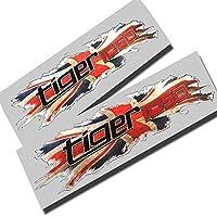 Triumph Tiger 1050 union flag design graphics decals stickers x 2 small