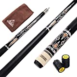 CUESOUL 57 Inch 21 Oz Pool Cue with 13mm Cue Tips with Cleaning Towel & Joint Protector (CSPC027)