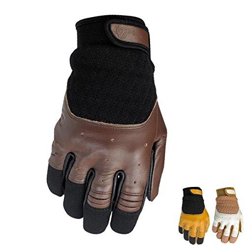 Biltwell Bantam Retro de piel verano guantes de moto, hombre, Tan / Bl