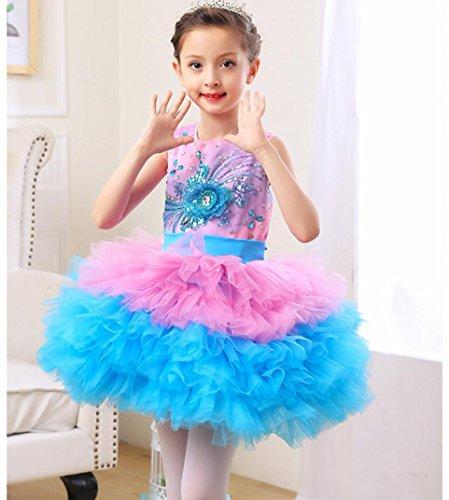 SMACO-Tanzkleidung für Kinder Kinder Prinzessin Kleid Mädchen Puffy -
