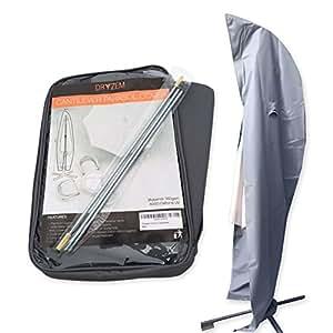 dryzem housse haute qualit imperm able pour parasol d port 600 deniers en tissu oxford avec. Black Bedroom Furniture Sets. Home Design Ideas