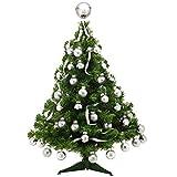 TK Gruppe Timo Klingler Künstlicher grün klein 45 cm Christbaum spritzguss Weihnachtsbaum Tannenbaum als Deko Dekoration zu Weihnachten mit Ständer (45 cm)