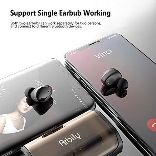 Arbily Bluetooth Kopfhörer Kabellos True Wireless IN Ear Earbuds mit Portable Ladebox 3000 mAh,135 Stunden Spielzeit IPX6 Wasserdicht Bluetooth 5.0 Ohrhörer Sport,Power Bank für Smartphone - 6
