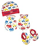 #9: Hey Baby Unisex Cap Mittens Set of 2 (Red and Blue, Combo of 3, 0-6 Months)