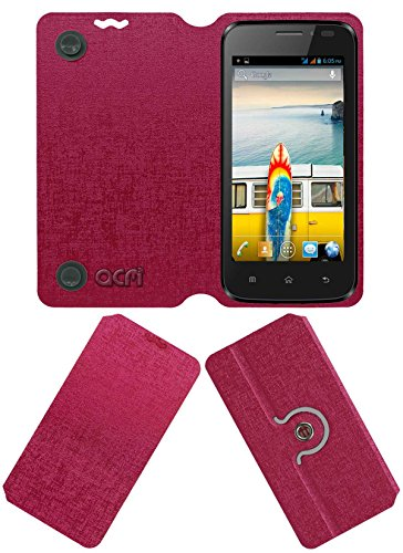 Acm Designer Rotating Flip Flap Case for Micromax Bolt A66 Mobile Cover Pink  available at amazon for Rs.399